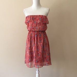 MM Couture Strapless Ruffled Dress